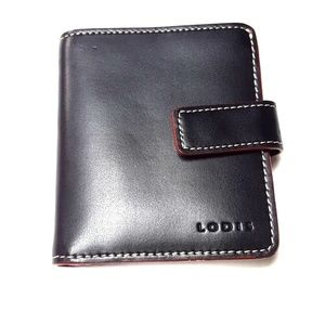 Elegant Black Lodis Audrey RFID Leather Wallet